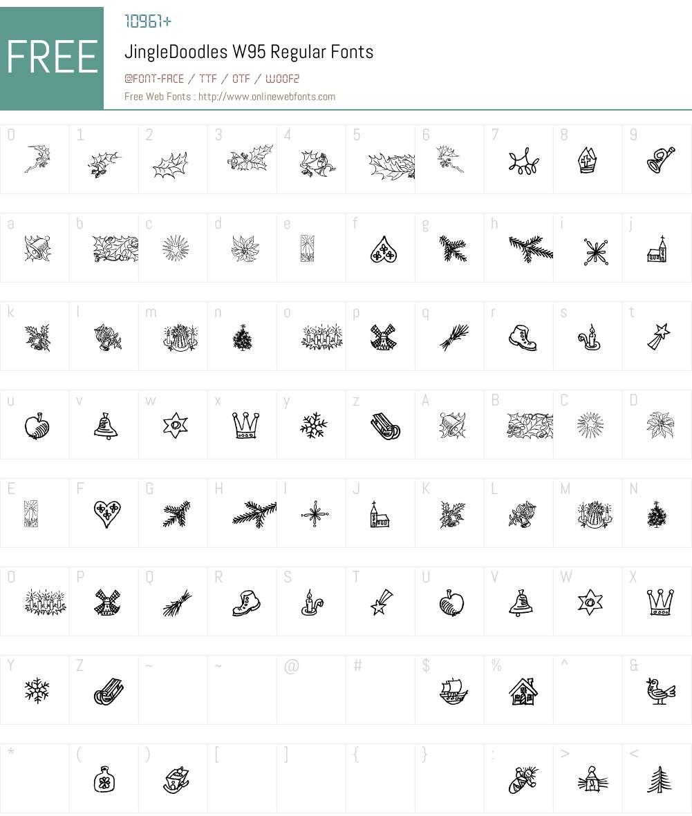 JingleDoodlesW95-Regular Font Screenshots