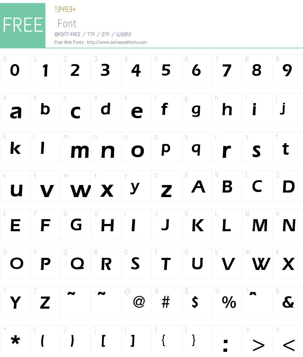 E820-Sans-Demi Font Screenshots