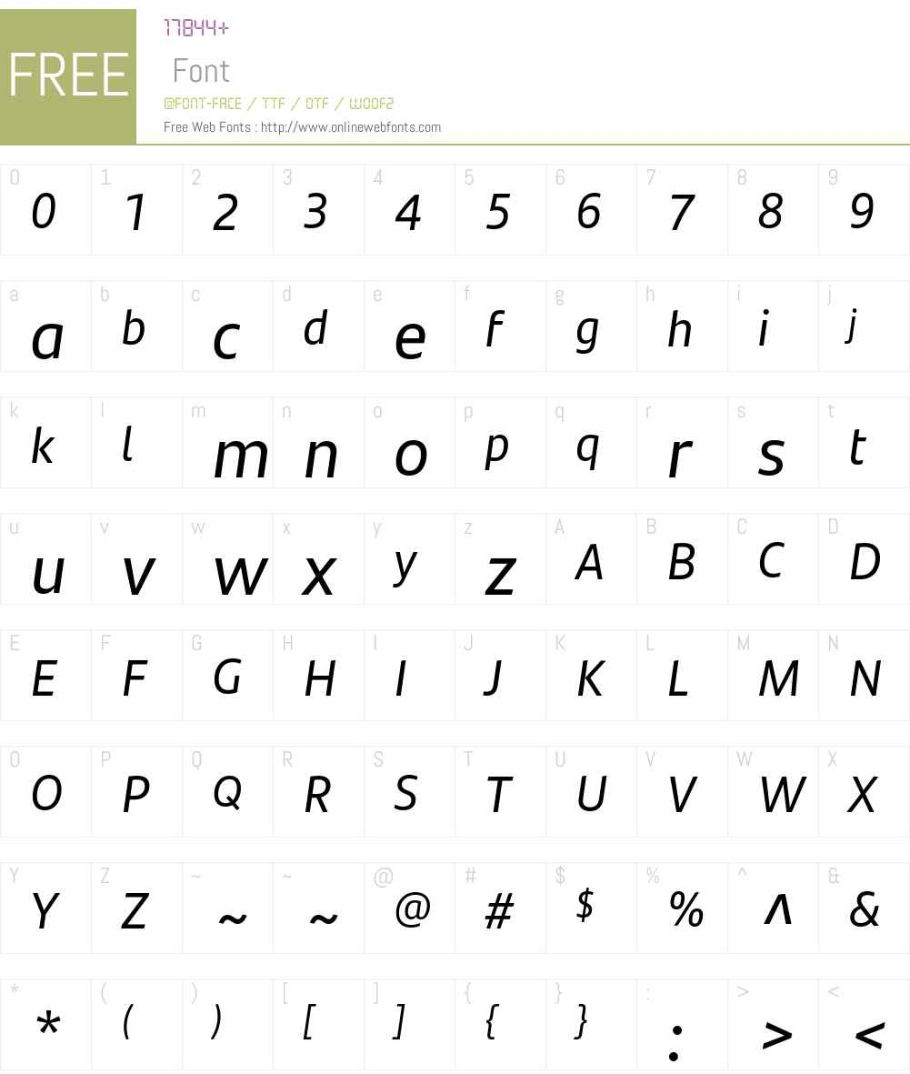 SantanderTextW05-Italic Font Screenshots