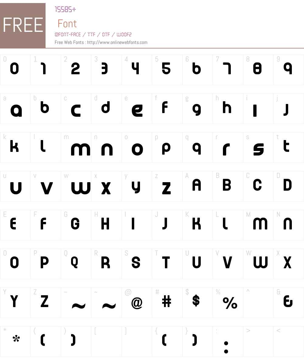 EMEN Lowercase Font Screenshots