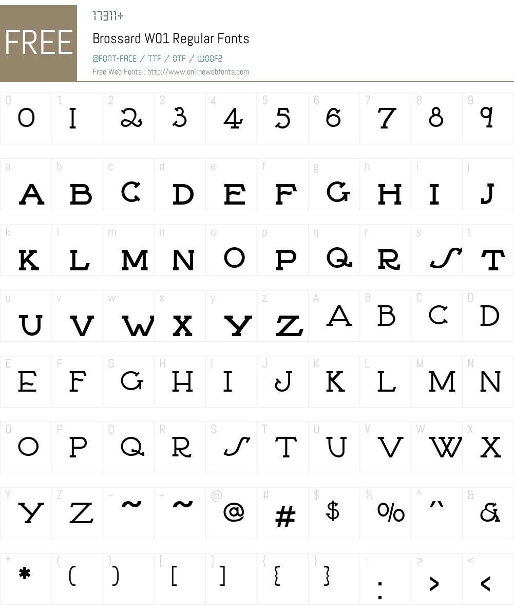 BrossardW01-Regular Font Screenshots