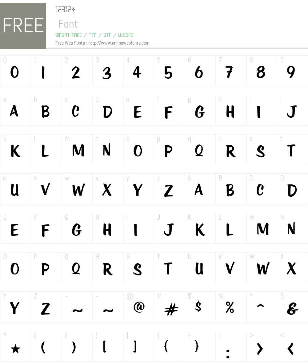 KTF-Roadstar Font Screenshots