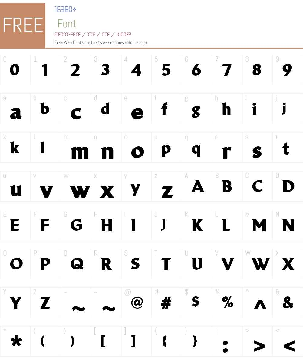 LinotypeBreweryW01-Black Font Screenshots