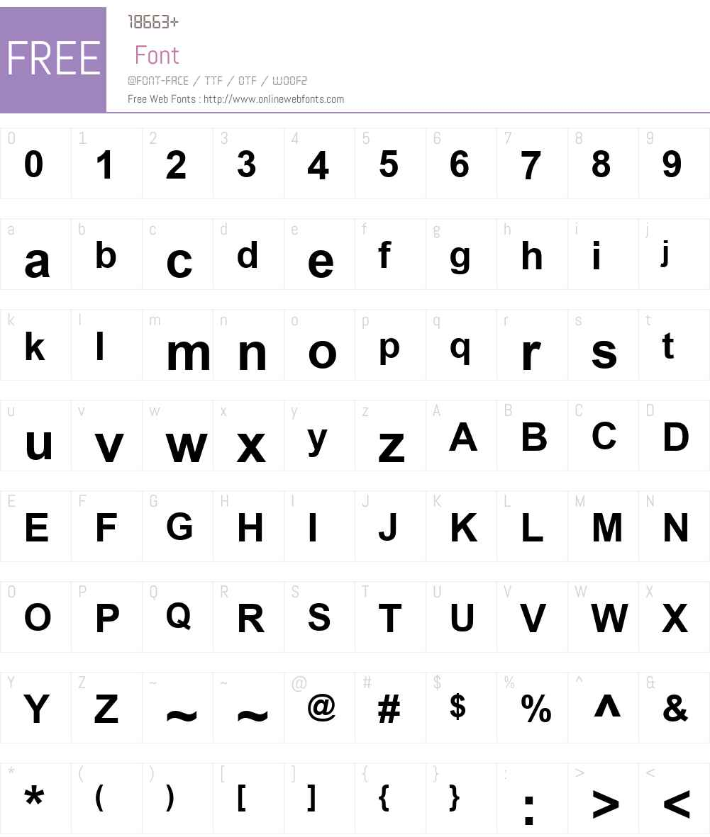 Alpsoft-Tiken Font Screenshots