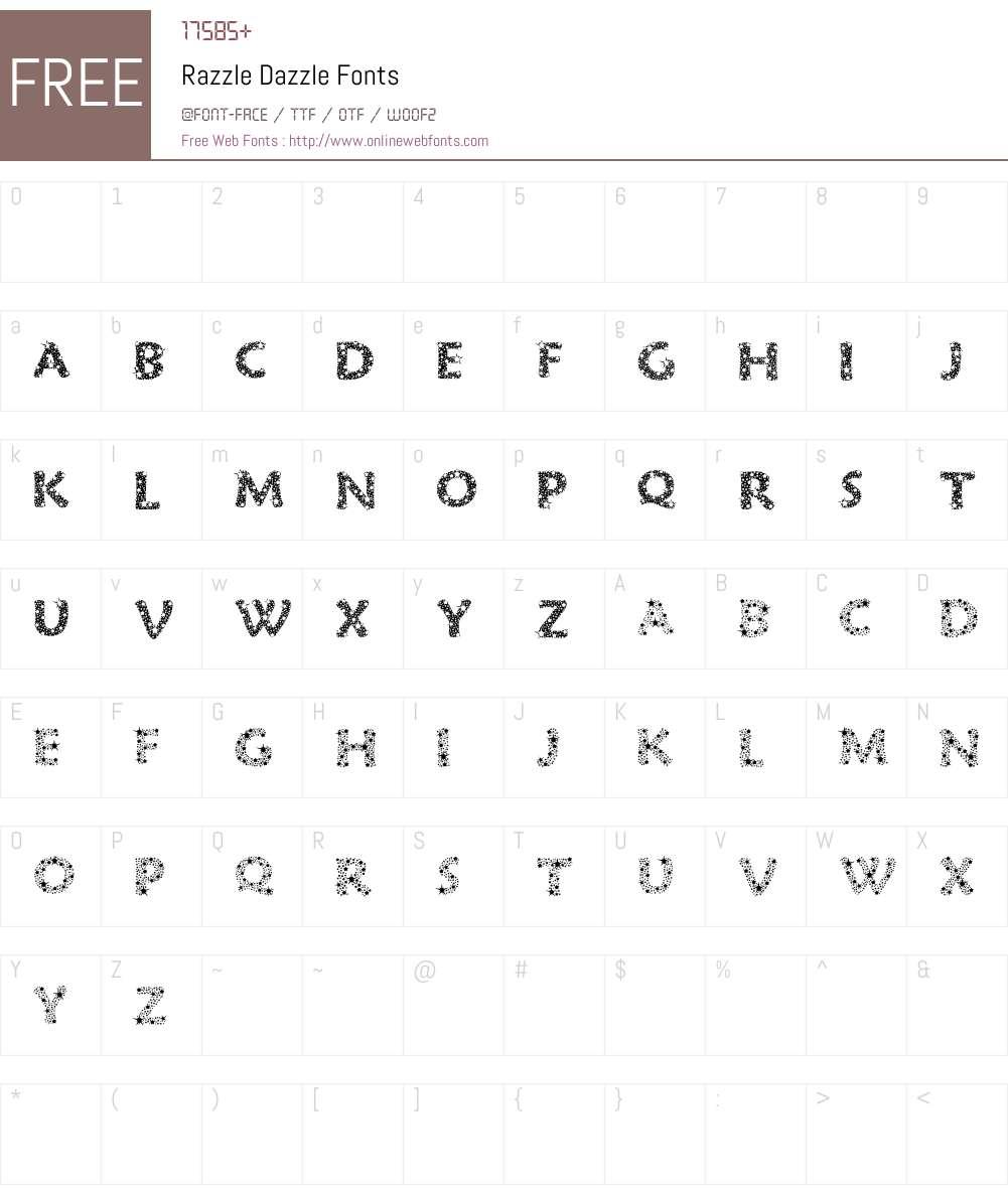 Razzle Dazzle Font Screenshots