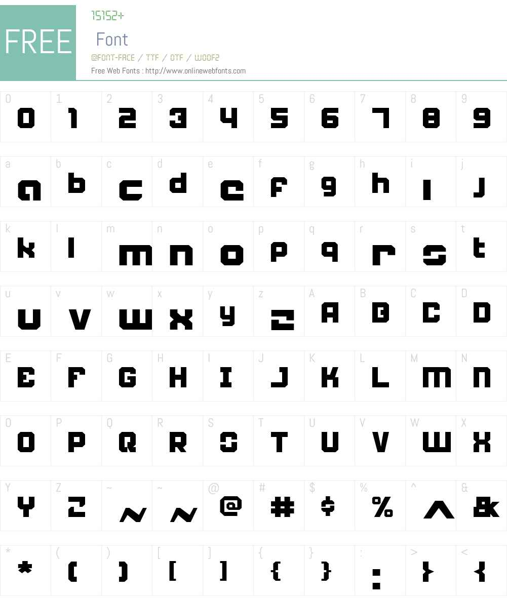 Weaponeer Font Screenshots