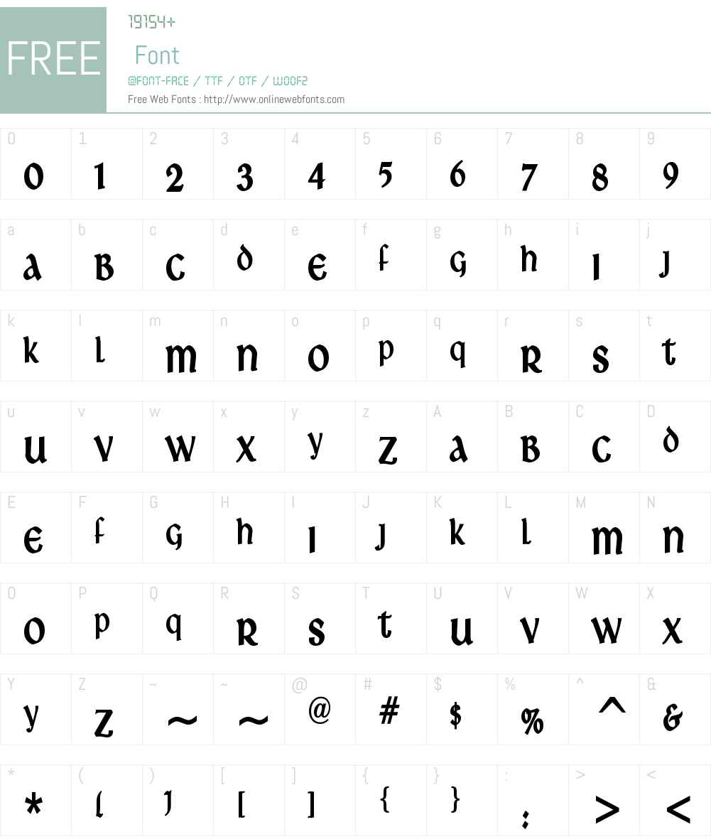 Ardagh Font Screenshots