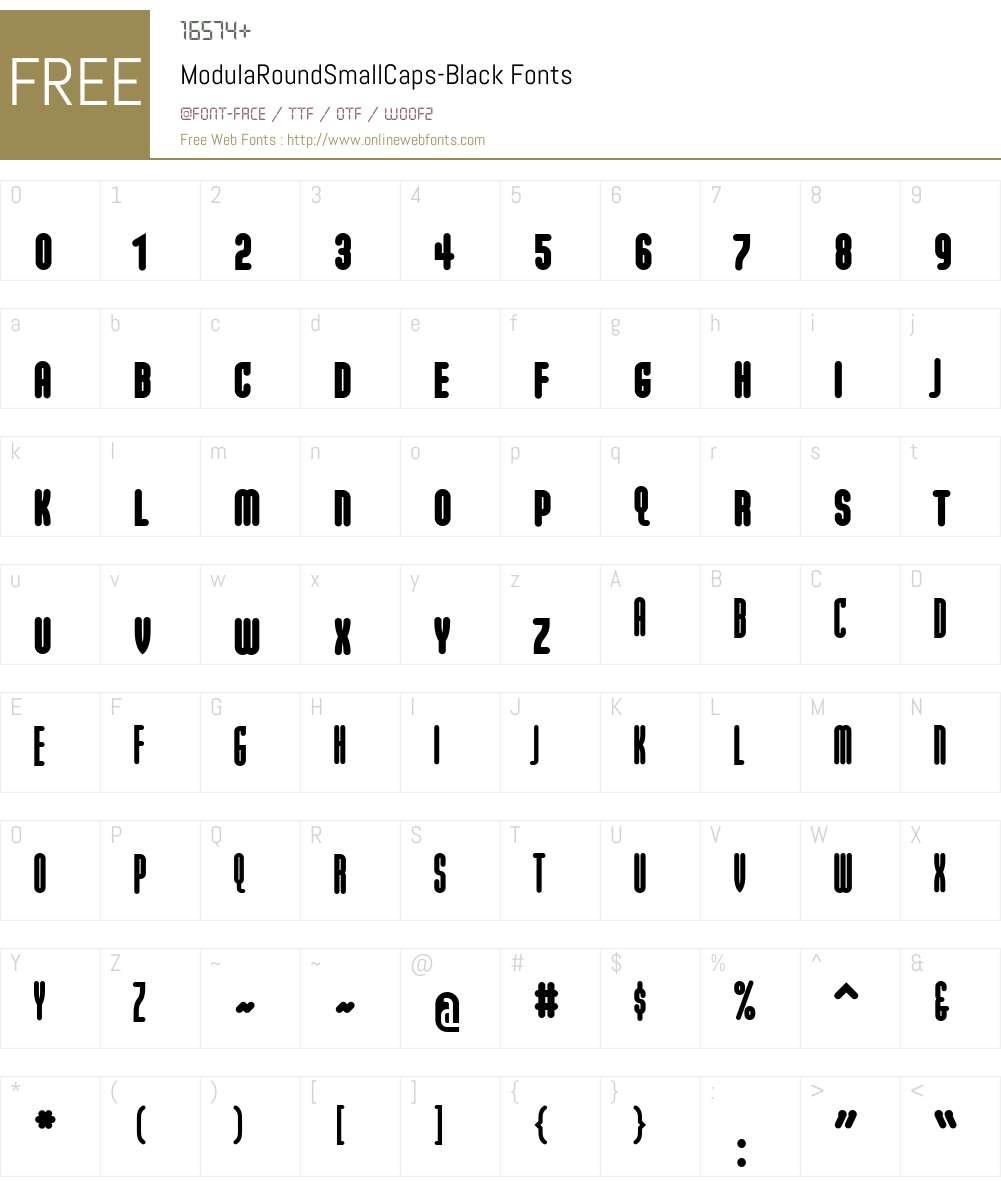 ModulaRoundSmallCaps-Black Font Screenshots