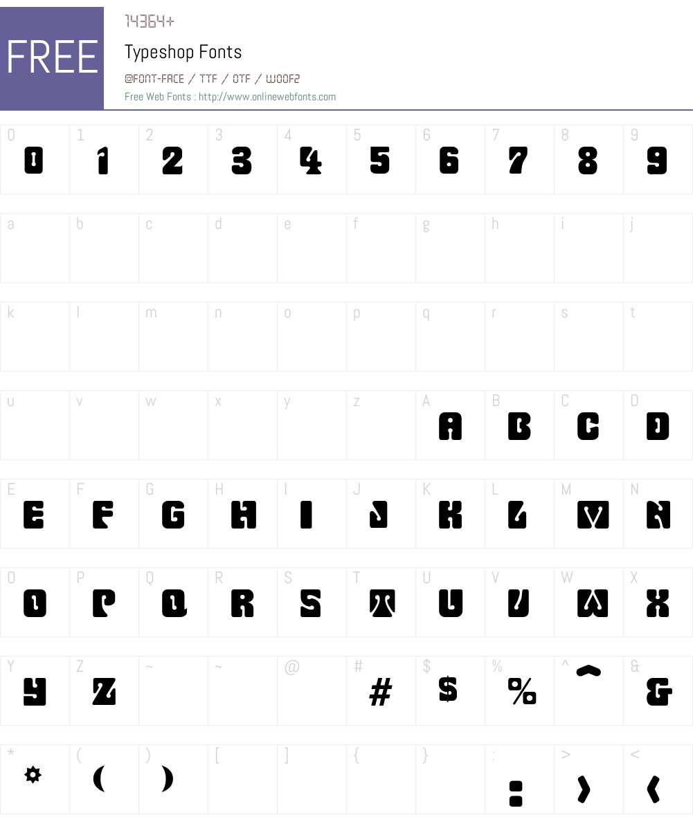 Typeshop Font Screenshots