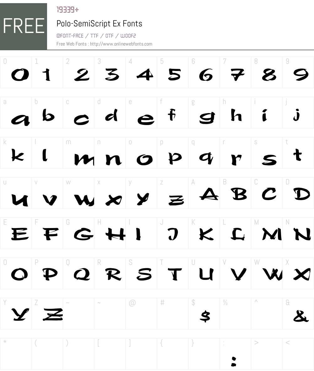 Polo-SemiScript Ex Font Screenshots