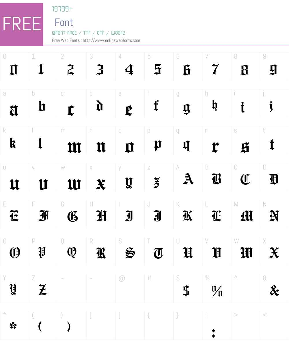 EnglishTowne Font Screenshots