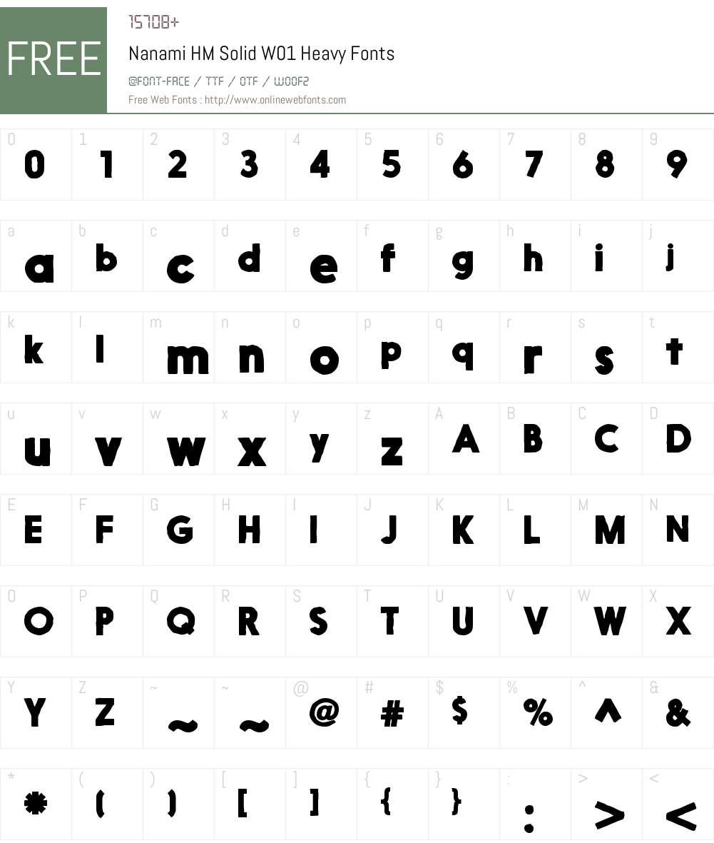 NanamiHMSolidW01-Heavy Font Screenshots