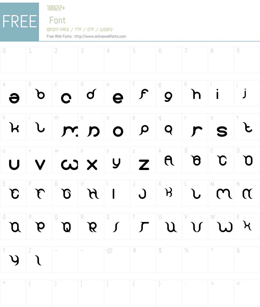 frankenstein monster Font Screenshots