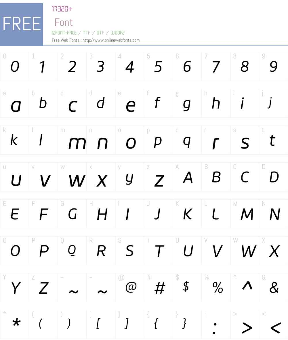 RoihuW01-Italic Font Screenshots