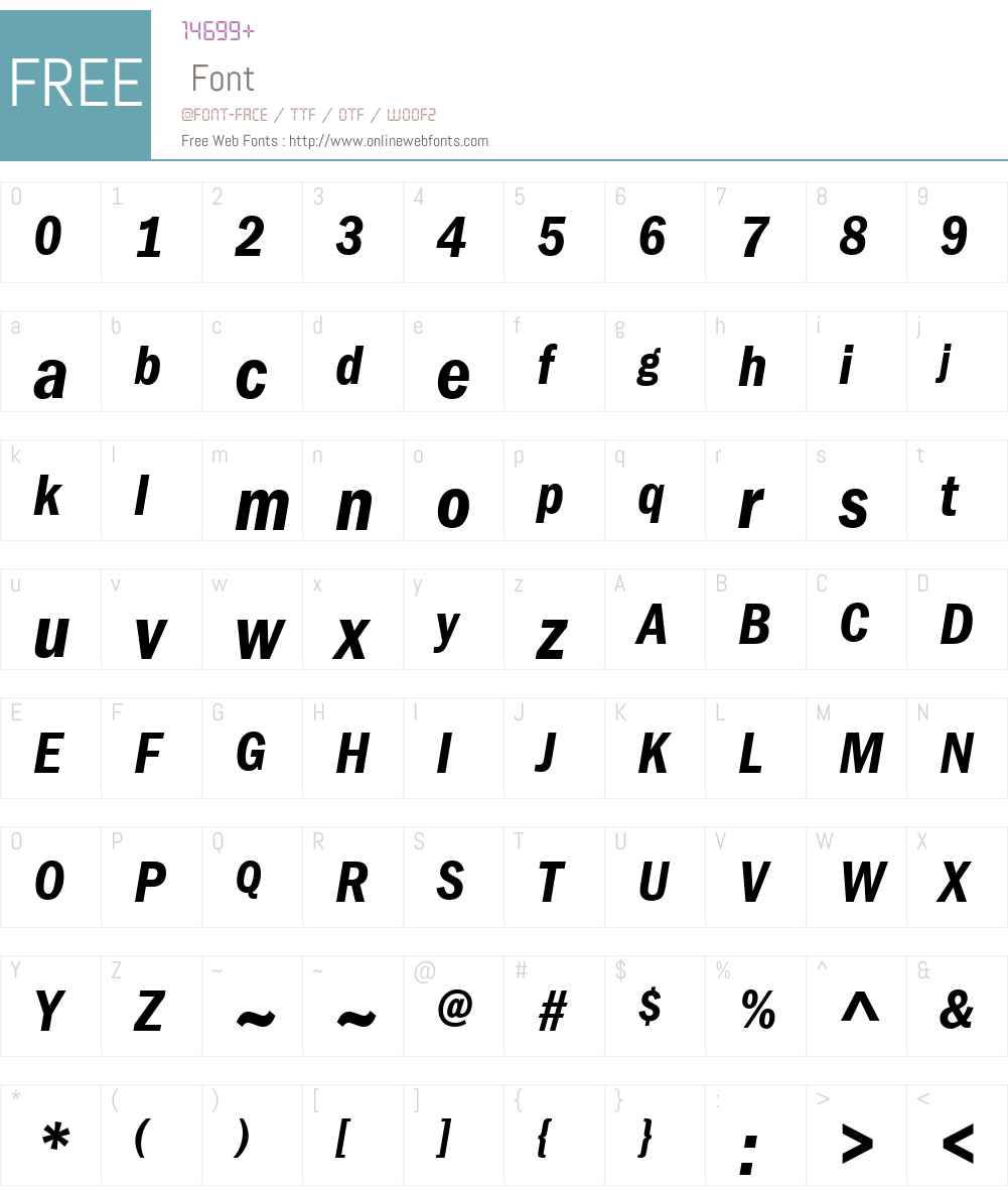 ITC Franklin Gothic LT Com Font Screenshots