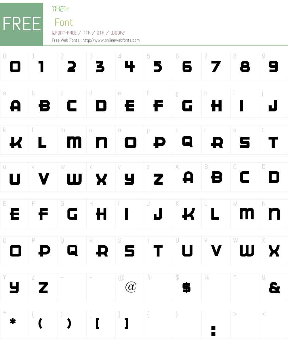 CuppaJoe Font Screenshots