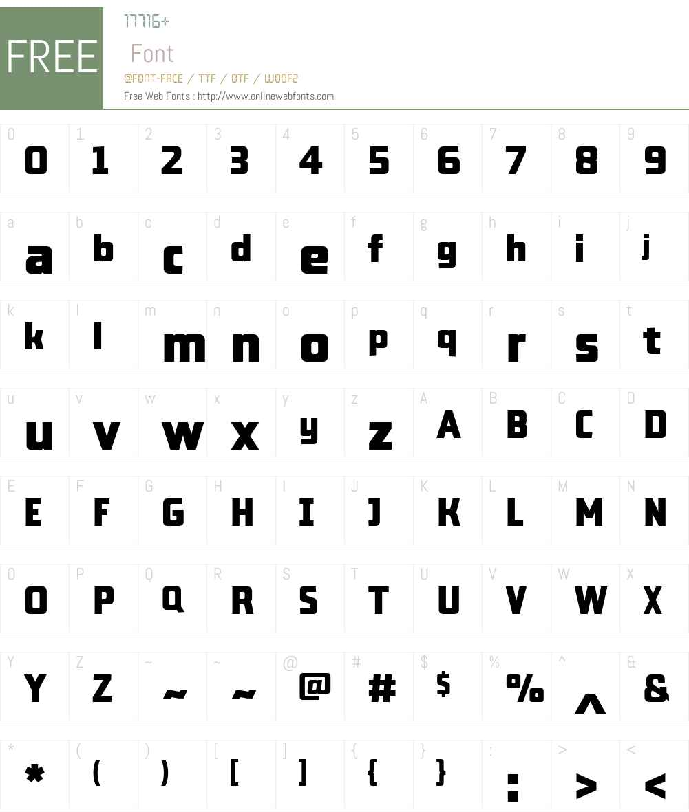 LabSansW01-Black Font Screenshots