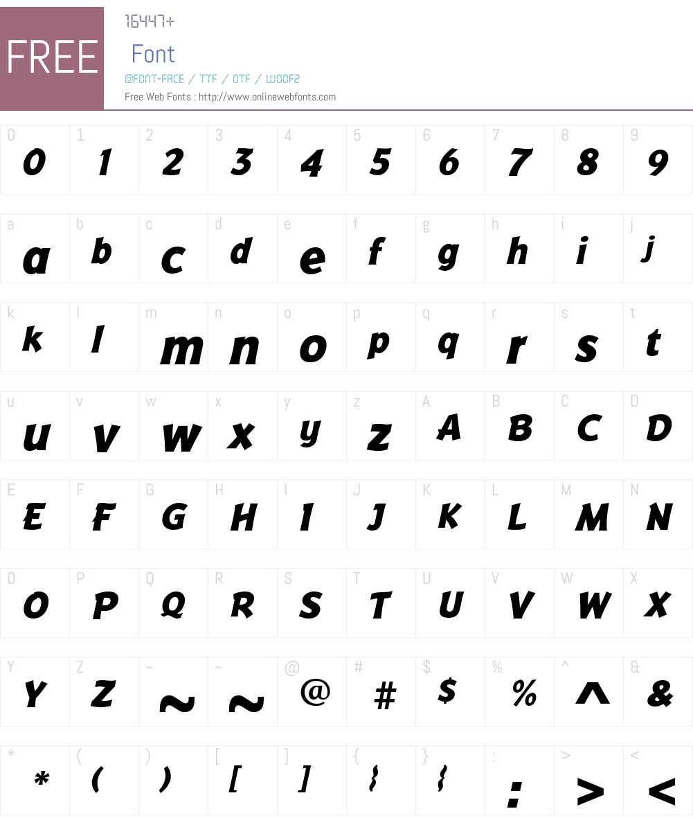 BadgerExtraBoldItalic Font Screenshots