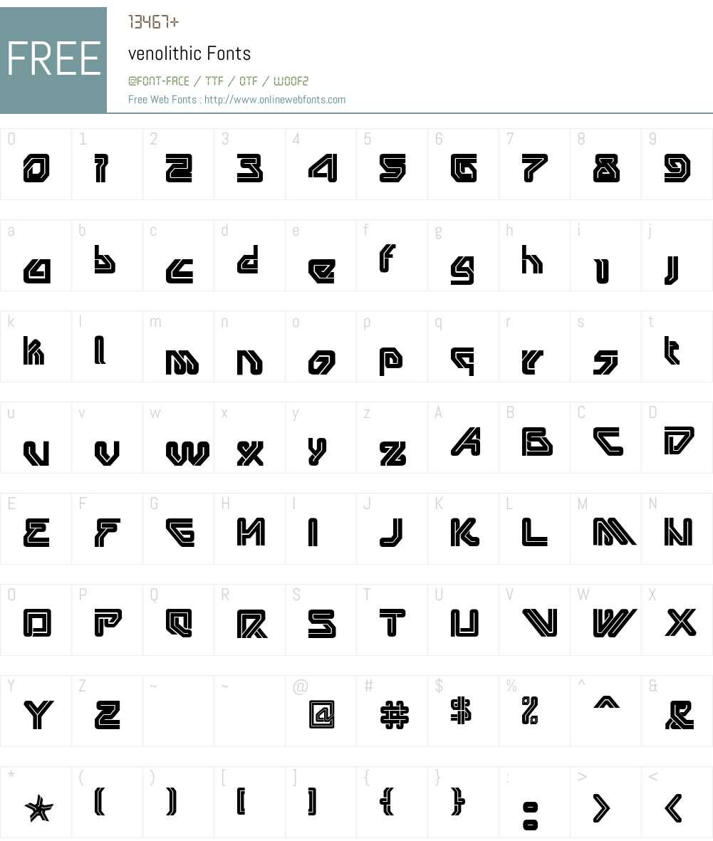 venolithic Font Screenshots