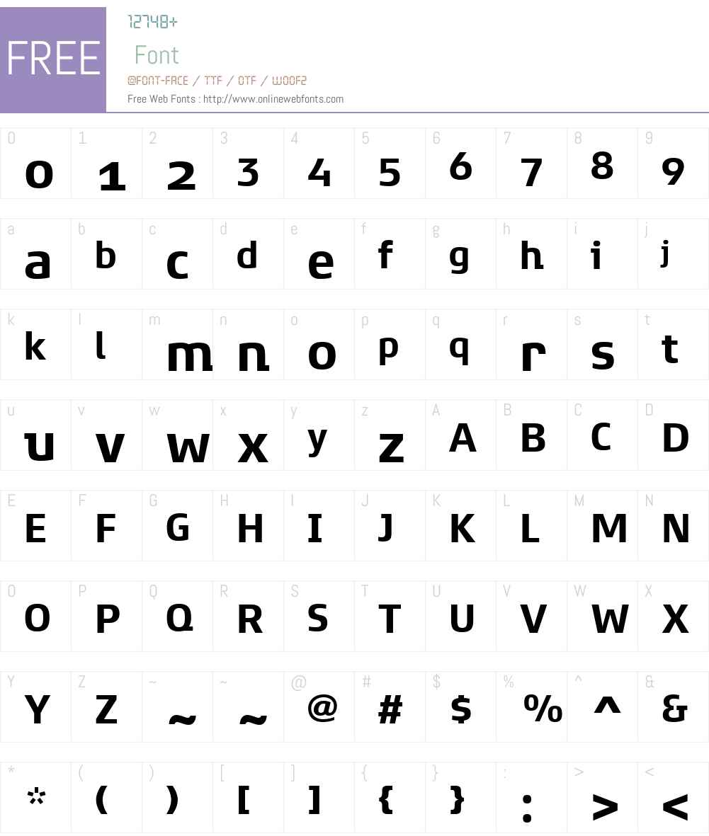 XenoisSuperW01-Bold Font Screenshots