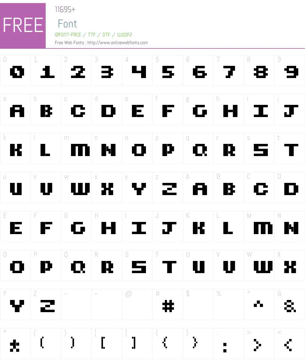 CubicFive18 Font Screenshots