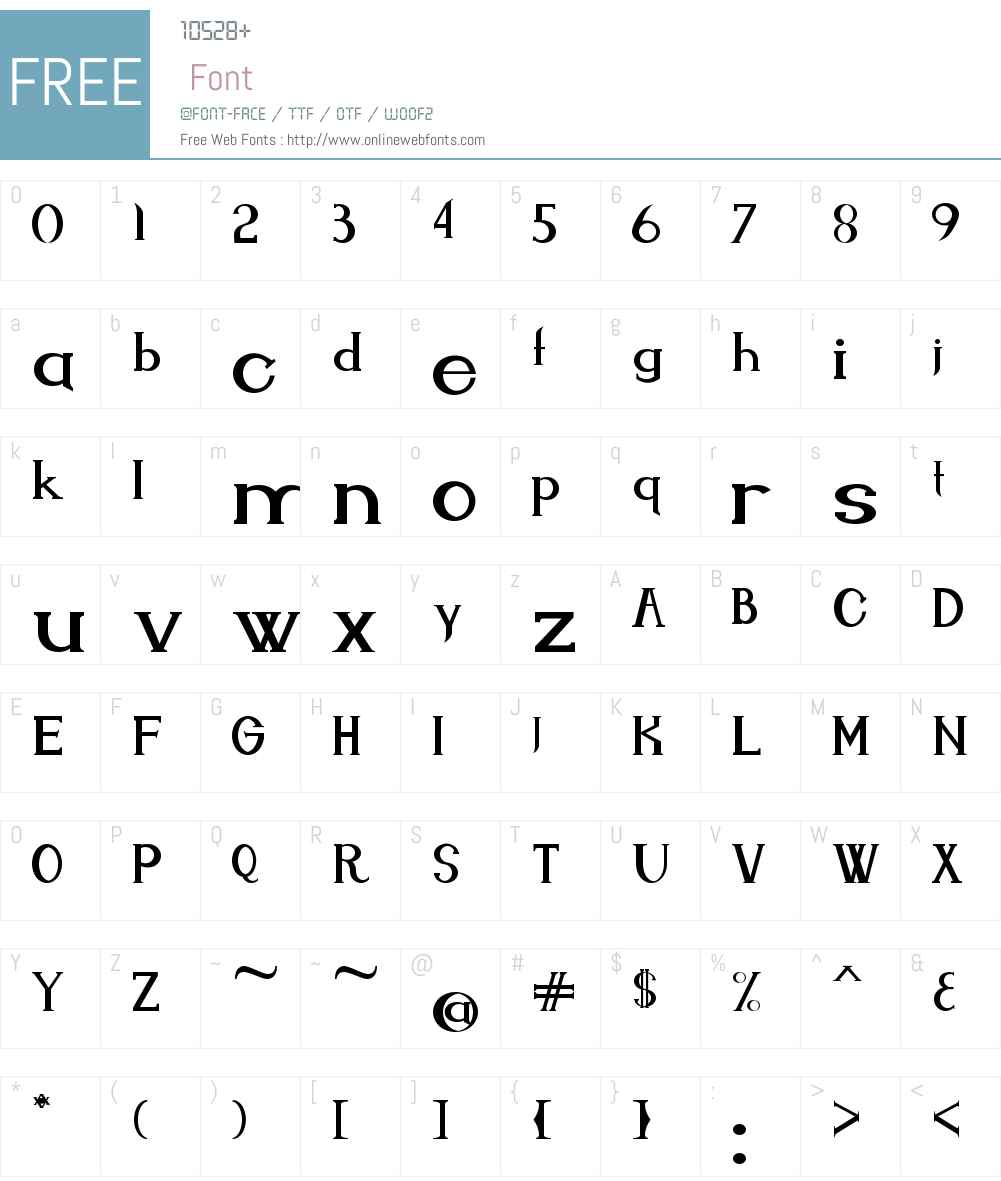 Endora Font Screenshots