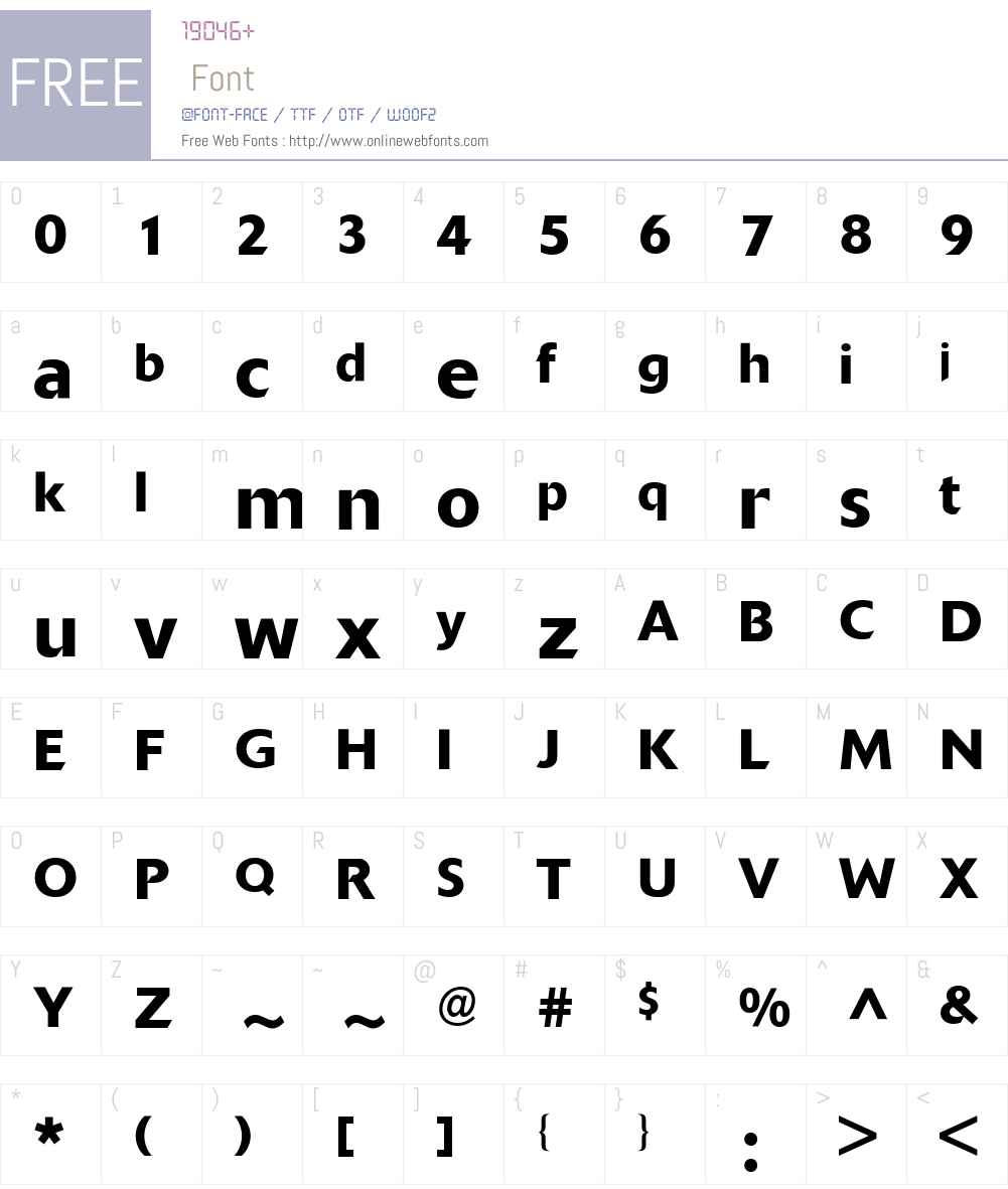 Delta BQ Font Screenshots