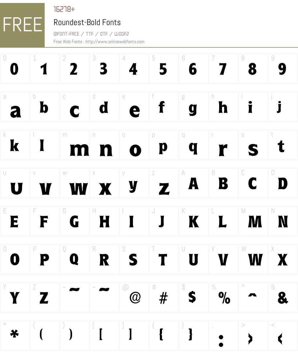 Roundest-Bold Font Screenshots