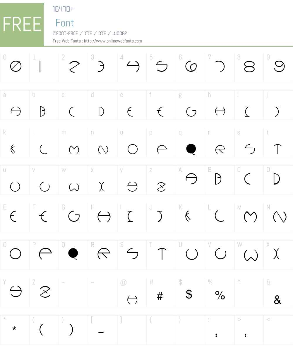 Rounders Font Screenshots