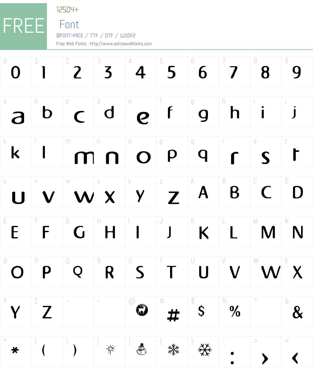 Napapiiri Font Screenshots