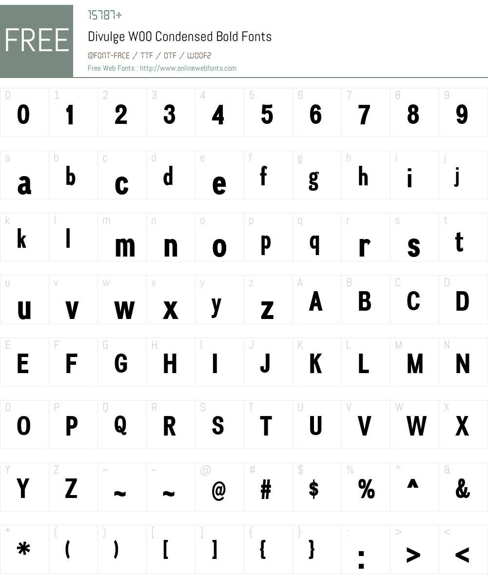 DivulgeW00-CondensedBold Font Screenshots