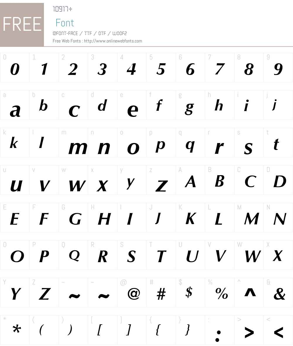 Optimum Font Screenshots