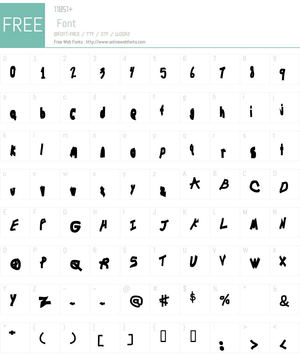 Chunkmuffin Bolded Font Screenshots