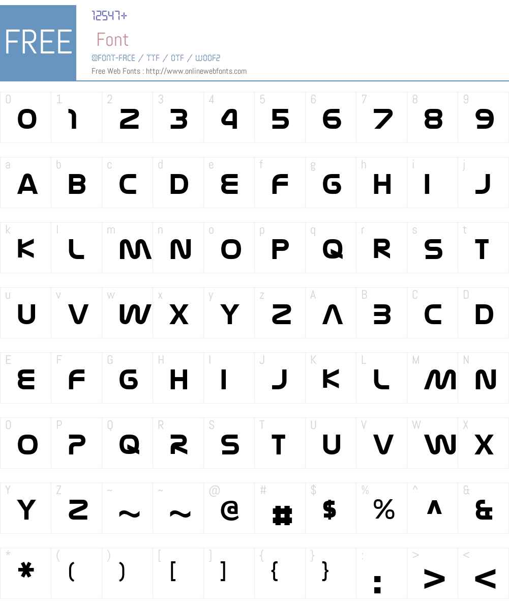 NasalizationW00-Bold Font Screenshots