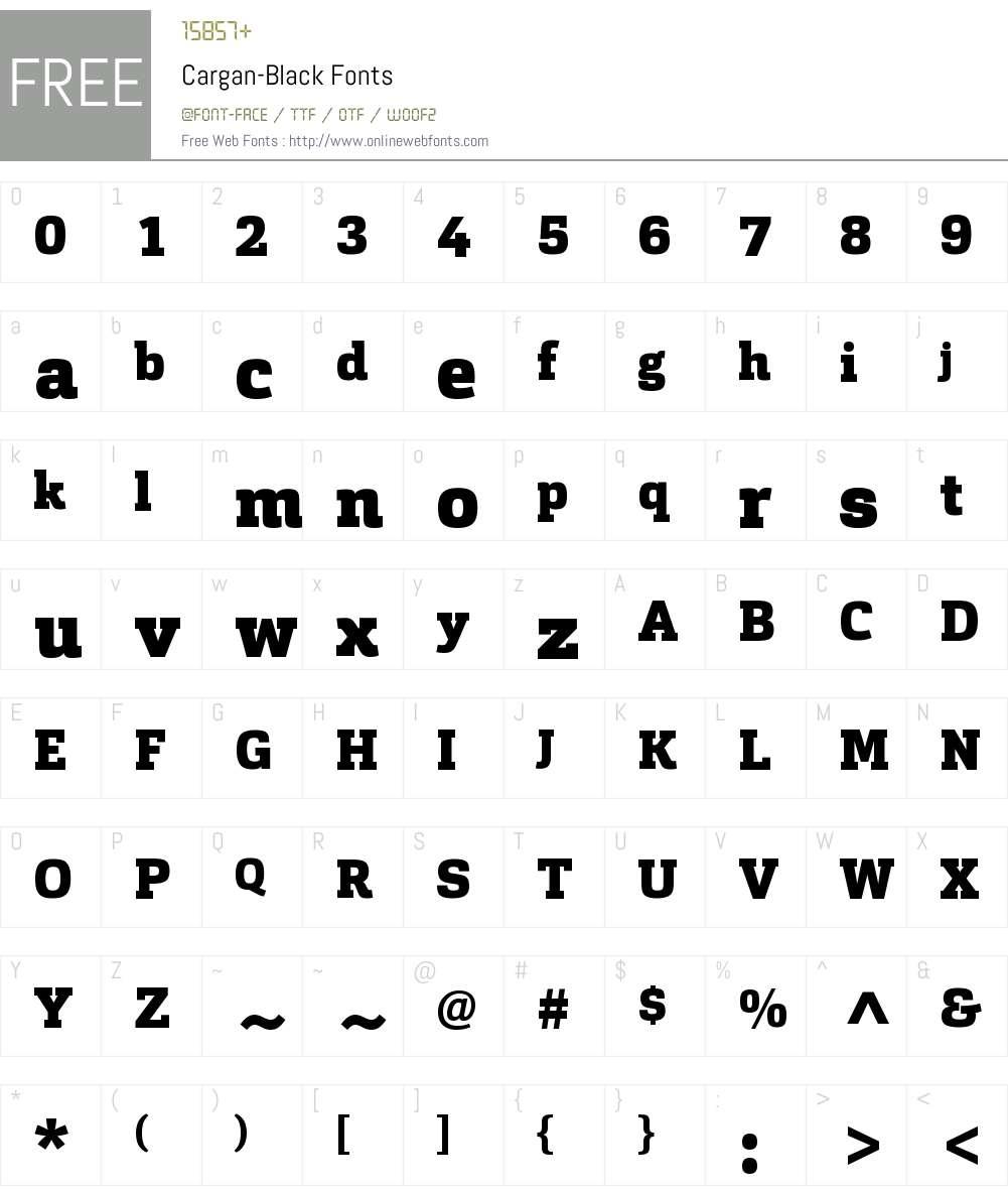 Cargan-Black Font Screenshots