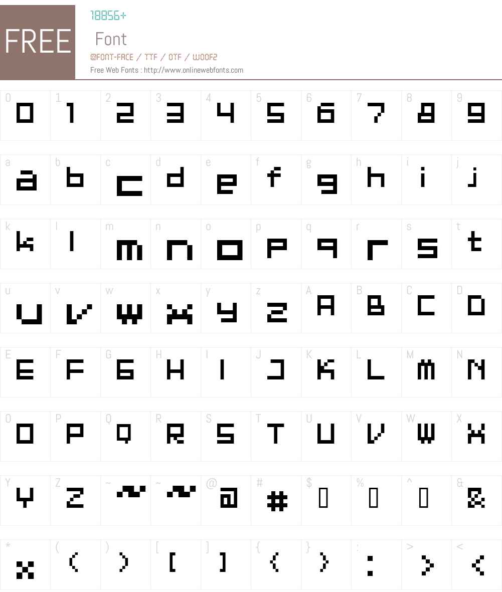 ET BT7001 Font Screenshots