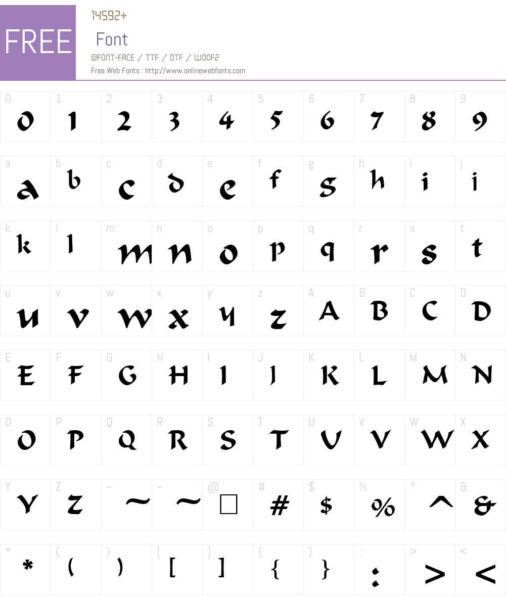 Merlin Font Screenshots