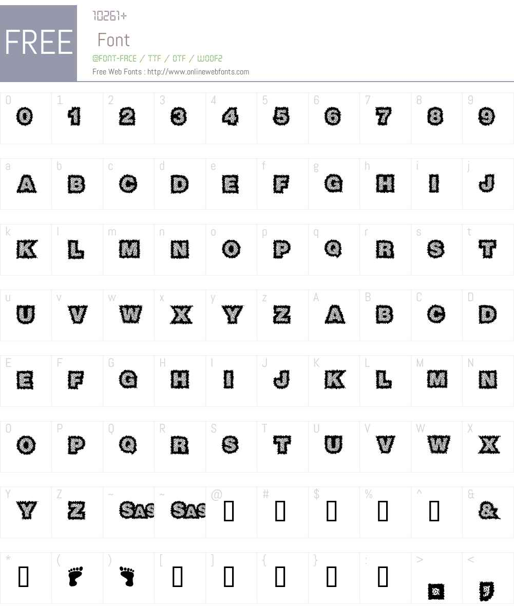 Sasquatch Font Screenshots