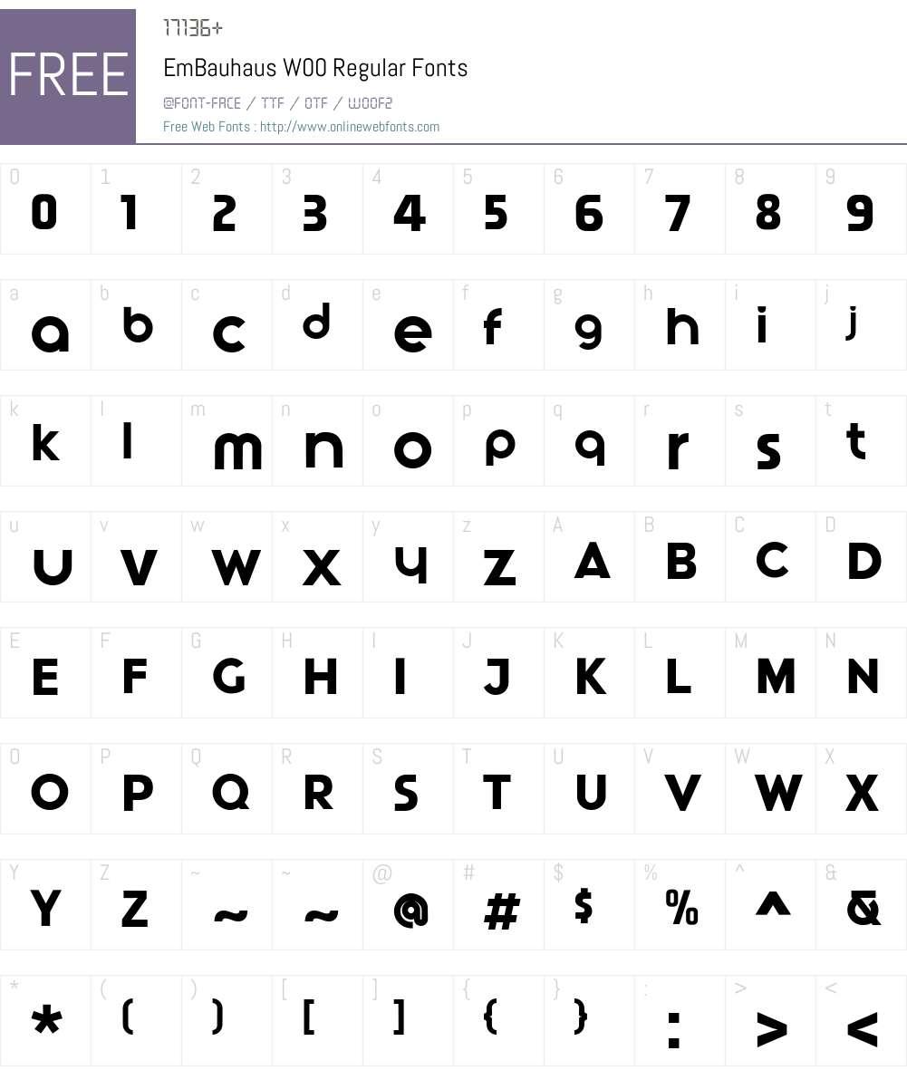 EmBauhausW00-Regular Font Screenshots