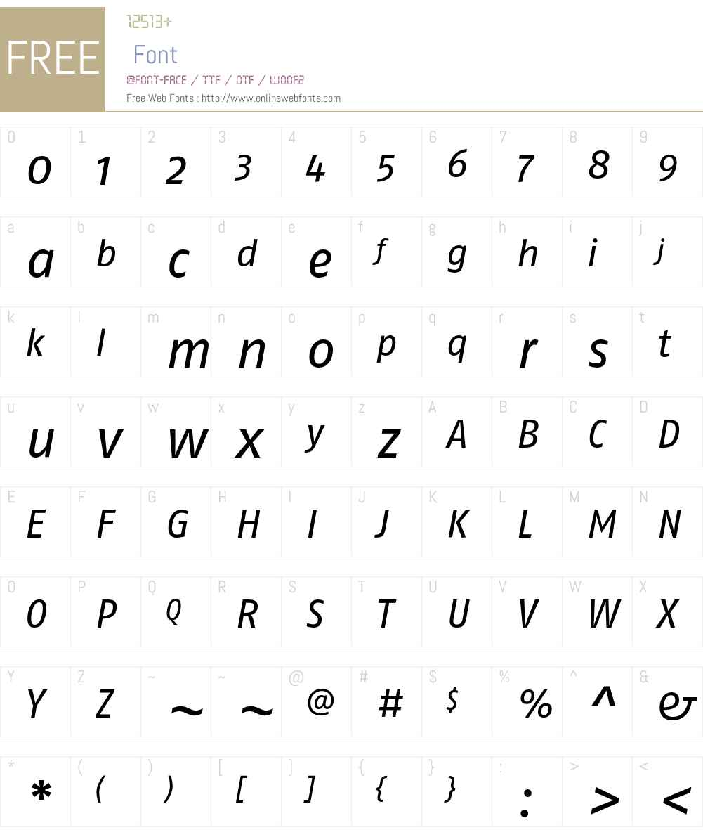 FagoNo Font Screenshots