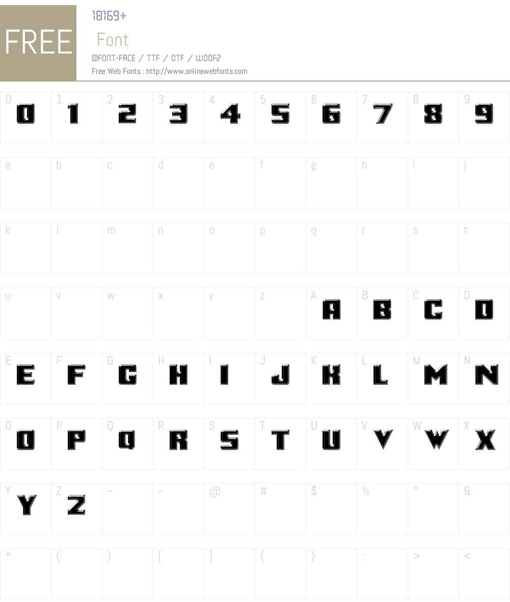 Logotronik Font Screenshots