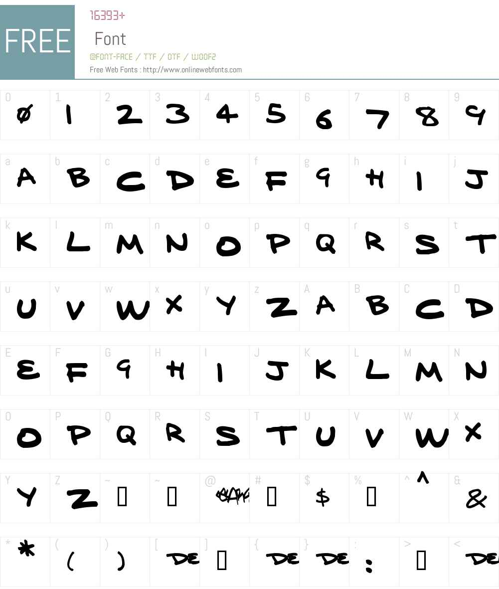 delarge marker pen Font Screenshots