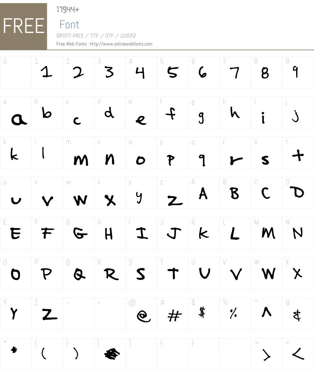 Impalinger Font Screenshots