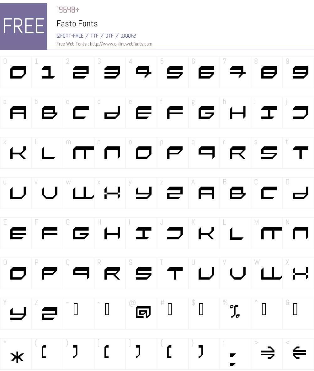 Fasto Font Screenshots