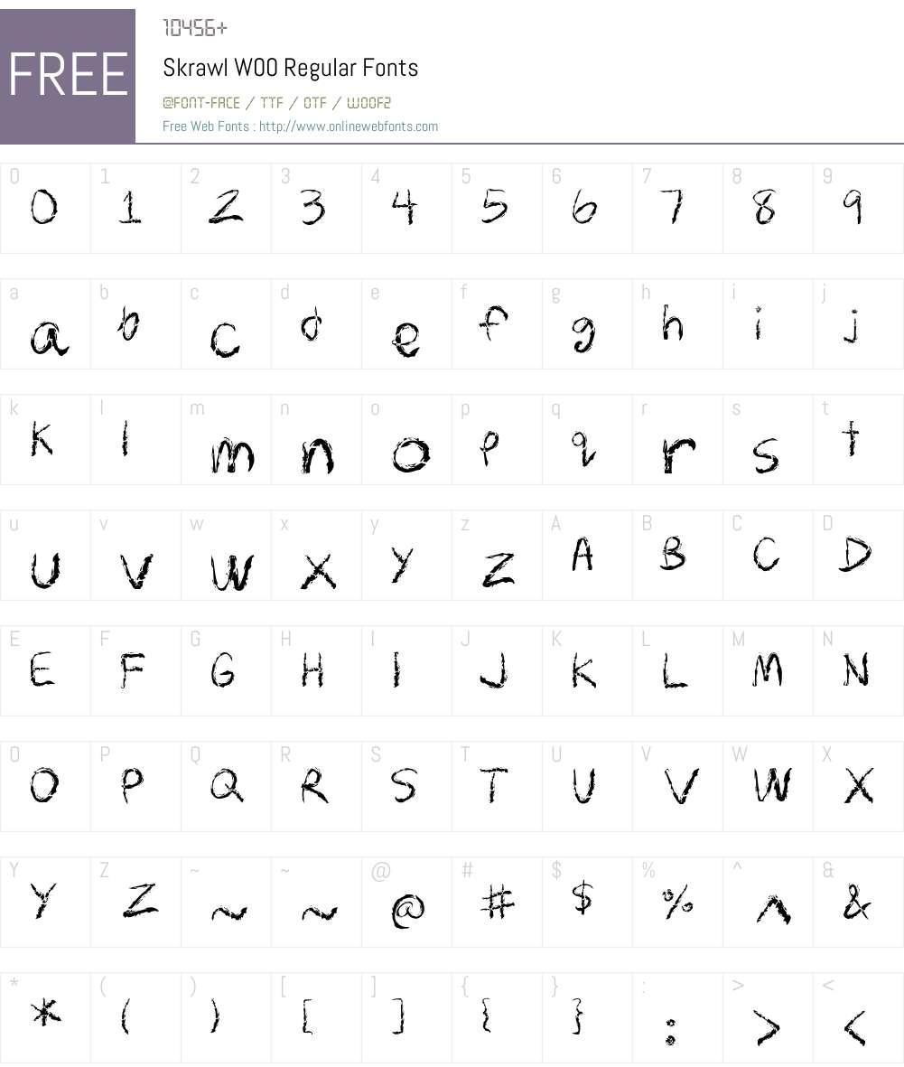 SkrawlW00-Regular Font Screenshots