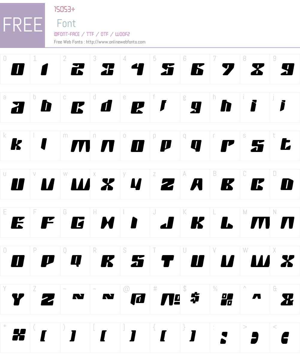 RushW00-One Font Screenshots