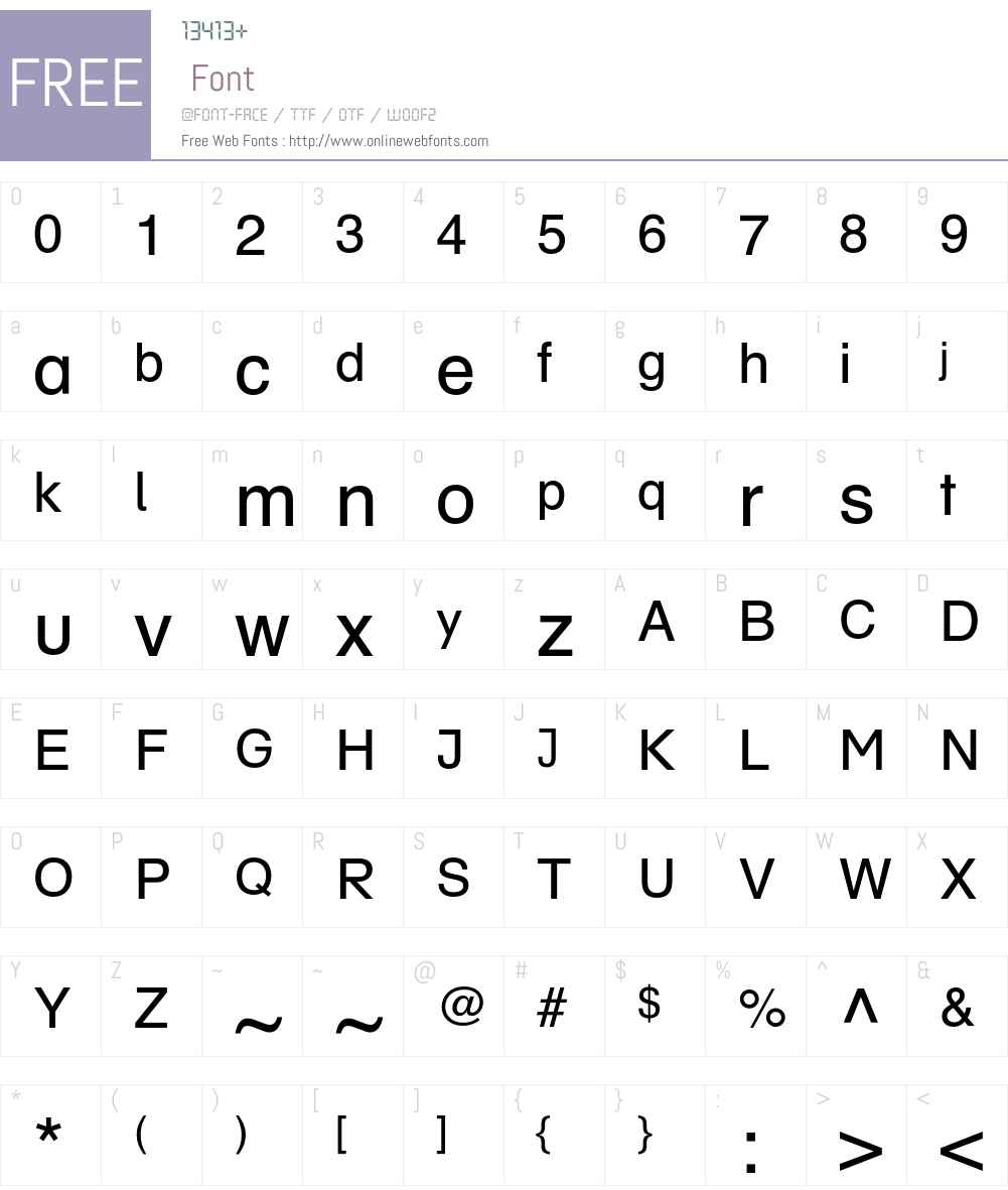 SchulbuchSued Font Screenshots