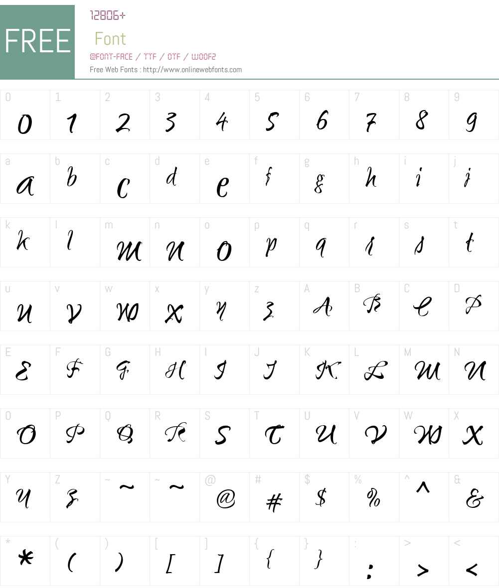 Sunetta Font Screenshots