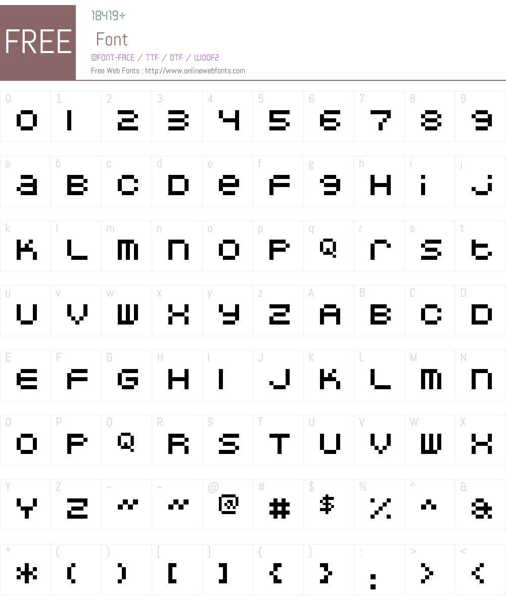 DoubleOhOne Font Screenshots
