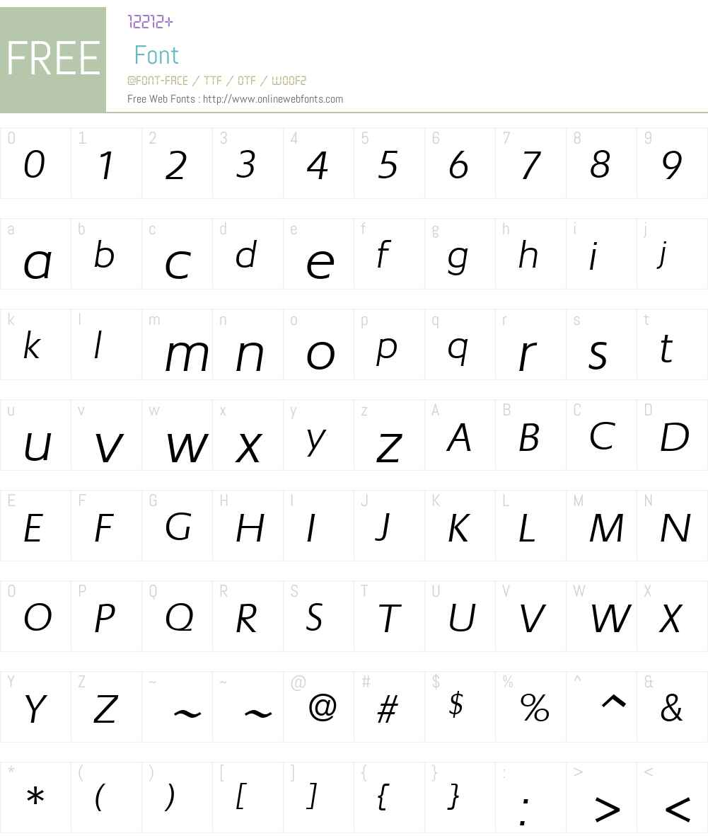 NewLincolnGtcW01-BookIt Font Screenshots
